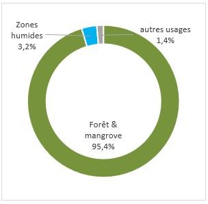 Schéma des zones humides en guyane. Voir descriptif détaillé ci-après